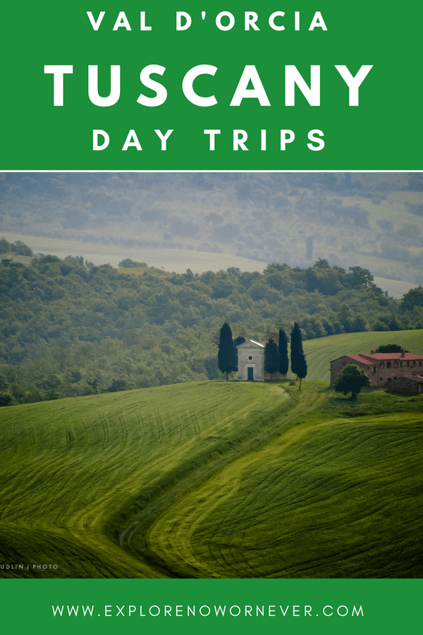 If epic eats and ancient monasteries are on your wish list of Tuscany travel experiences, drive the Val d'Orcia! #TuscanyItalytravel #Italytravel #Vald'Orciatrip