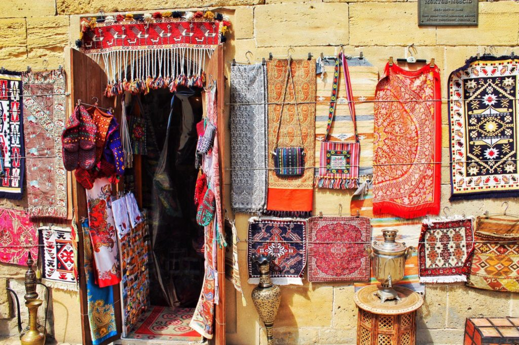 Photo of a colorful storefront in Azerbaijan