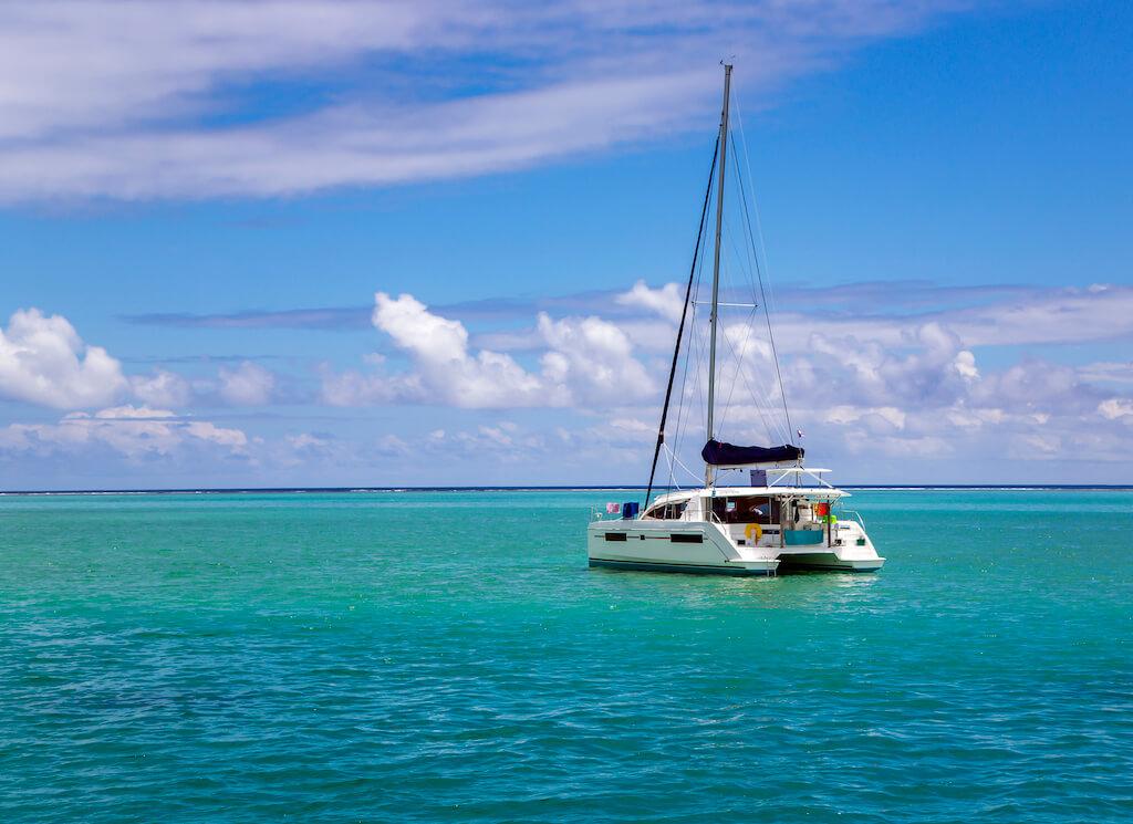 sailboat on a turquoise sea