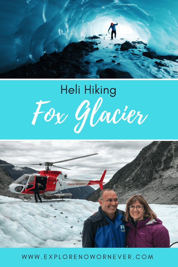 Looking for New Zealand adventure? Read a review of our heli-hike on Fox Glacier on New Zealand's South Island with Fox Glacier Guiding. Plus where to stay and eat! #NewZealandhiking #FoxGlacierNewZealand #NewZealandtravel