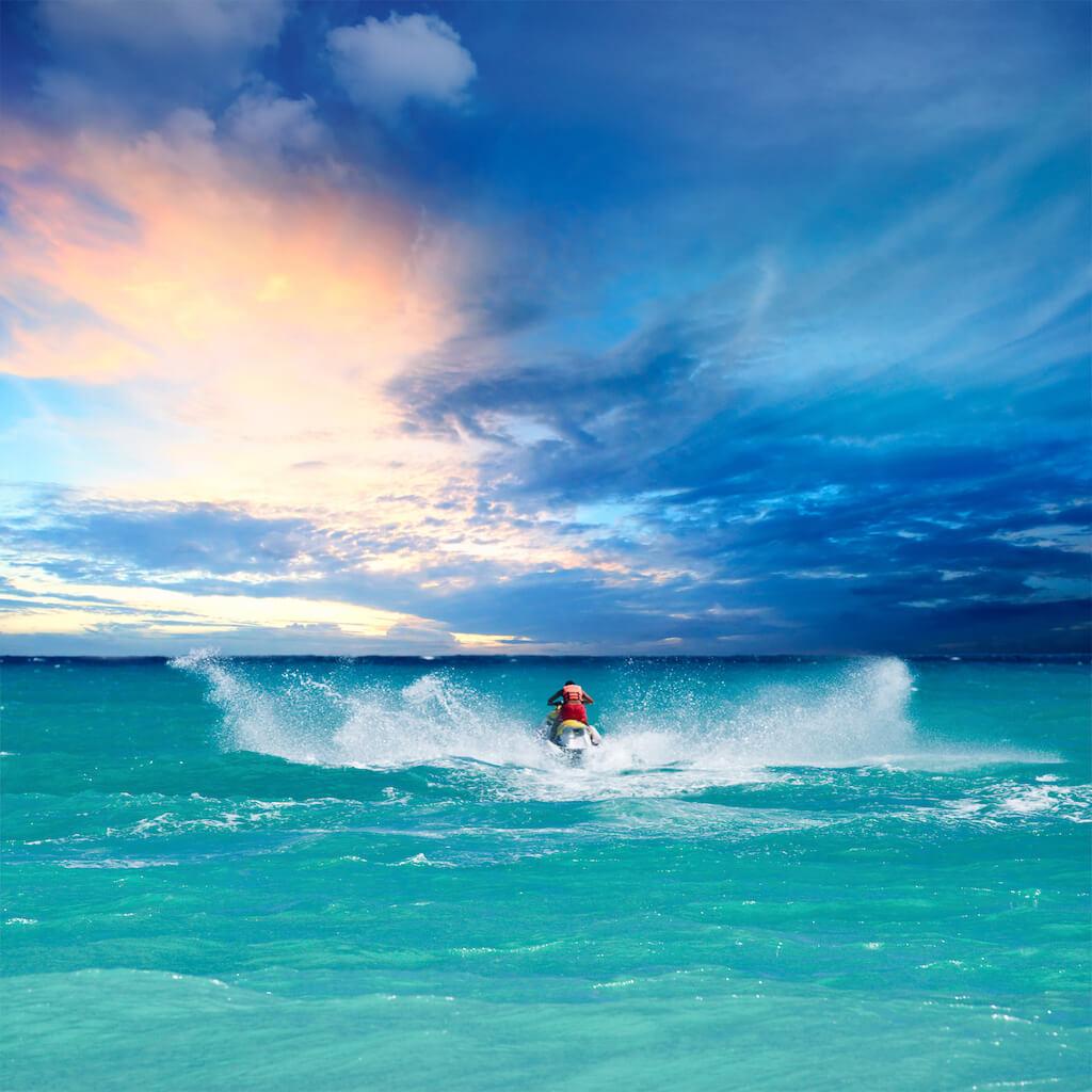 jetski on a turquoise sea