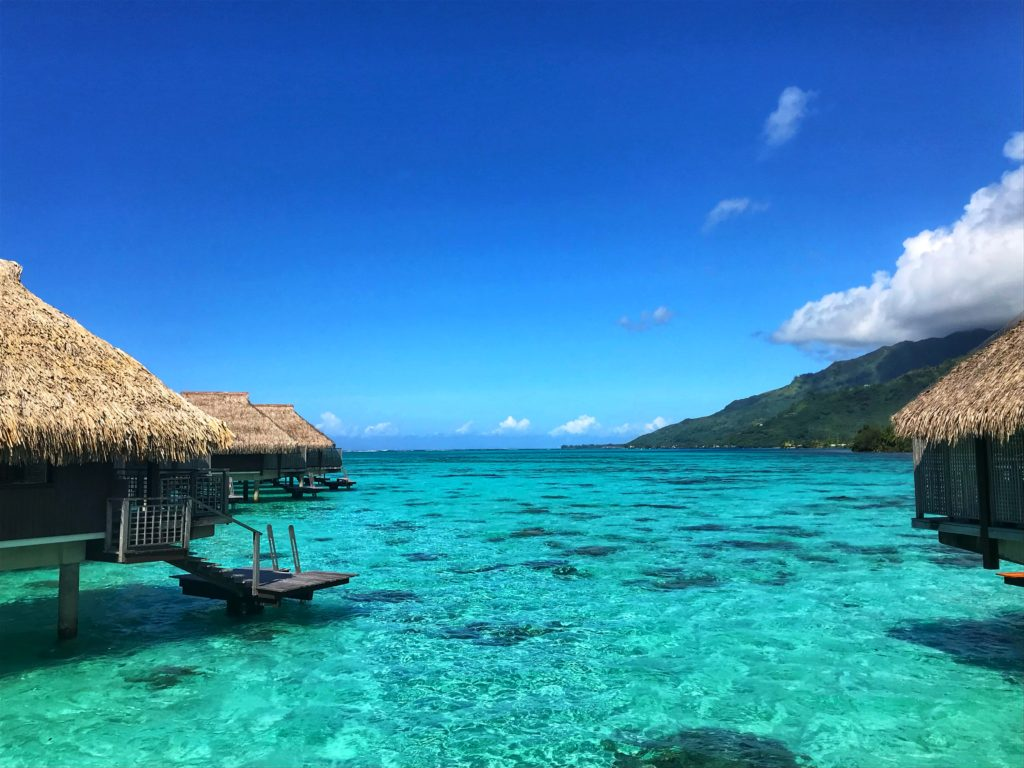 What to do in Moorea: travel photo of overwater bungalows