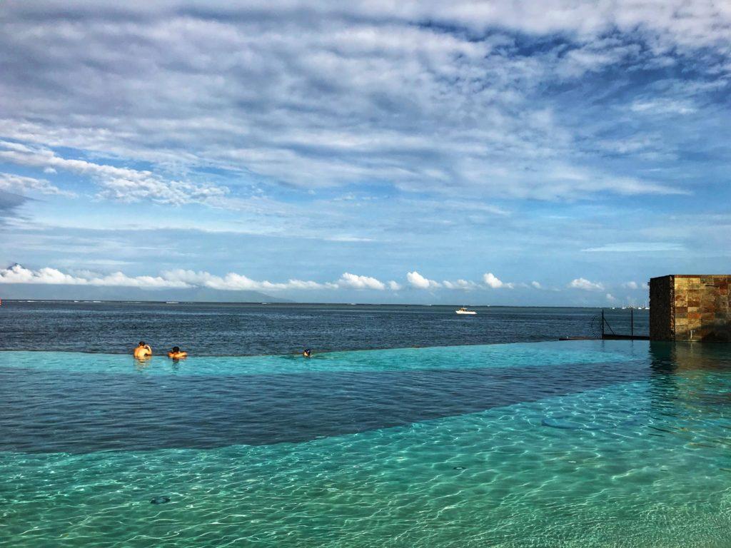Infinity pool at the Manava Beach resort on Tahiti.