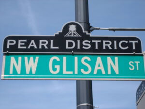 Sign of the Pearl district