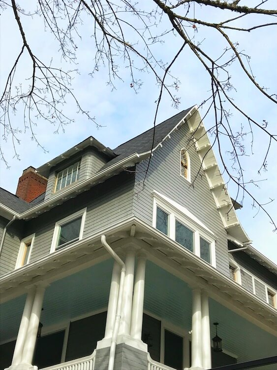 Green Victorian House in Portland