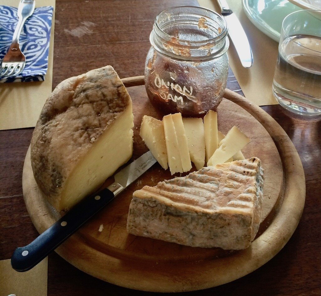 cheese plate and jam