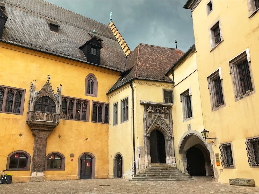 yellow Regensburg buildings