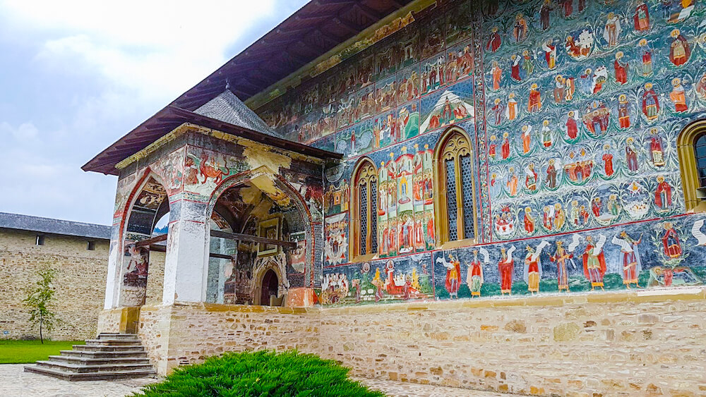 painted monastery in Romania