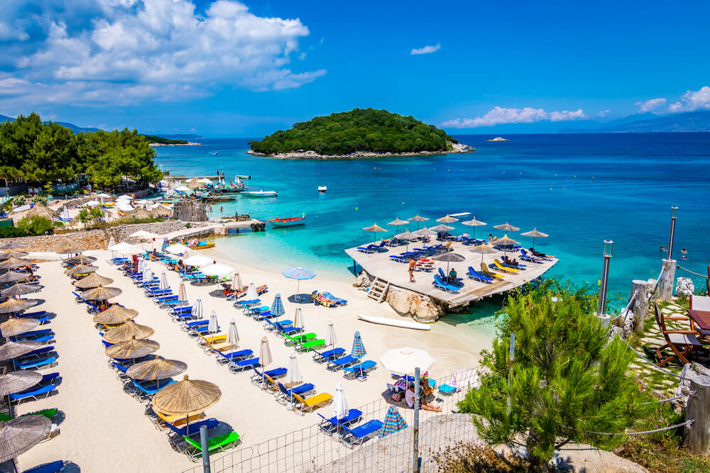 Ksamil Albania beachfront