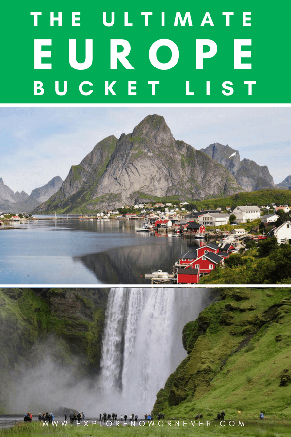 Explore the best of Europe with this incredible, in-depth European bucket list! Containing everything from hidden gems to more well-known locations, this bucket list was created by travel experts from around the globe. Create the perfect European vacation for any traveler and learn more about some unique cities in Europe you may not have heard of before! #EuropeTravel #EuropeBucketListThingsToDo #EuropeBucketList #TravelBucketList #EuropeBucketListIdeas