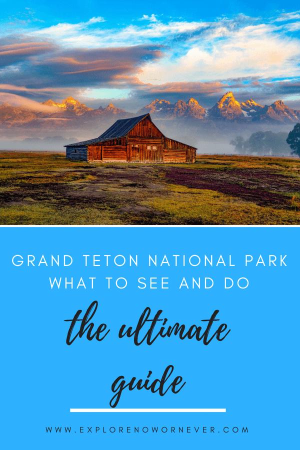 Follow this ultimate Grand Teton itinerary for the best hiking, kayaking, horseback riding, and a Snake River float trip adventure. #grandtetonnationalpark #grandtetons #hiking