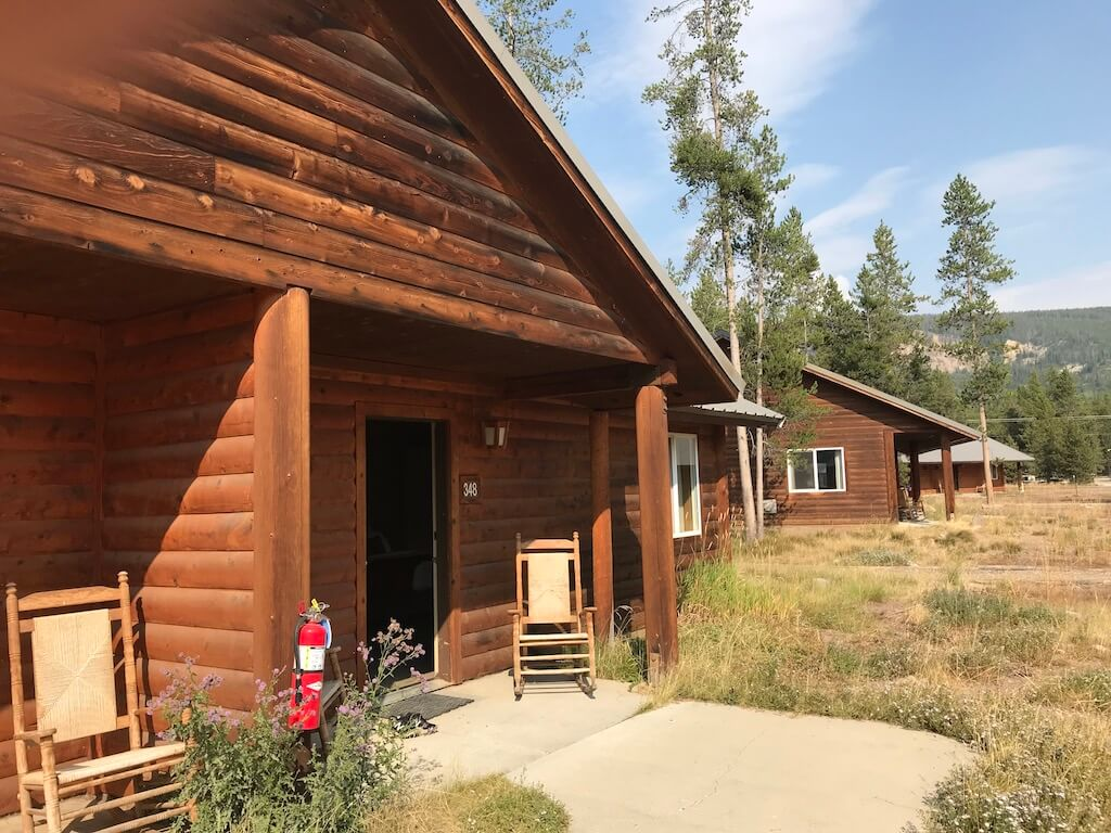 Headwaters Lodge—outside of a cabin