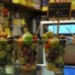cups of olives from La Boqueria