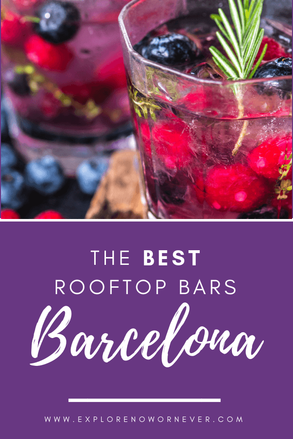 A drink with a view! Looking for inventive cocktails and live music? This is an insider's guide to the very best of the rooftop bars in Barcelona. #barcelonaspain #barcelona #barcelonaspainthingstodo #rooftopbarbarcelona #spaintravel #barcelonaspaintravel