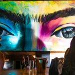 Casa Frida winery mural of eyes