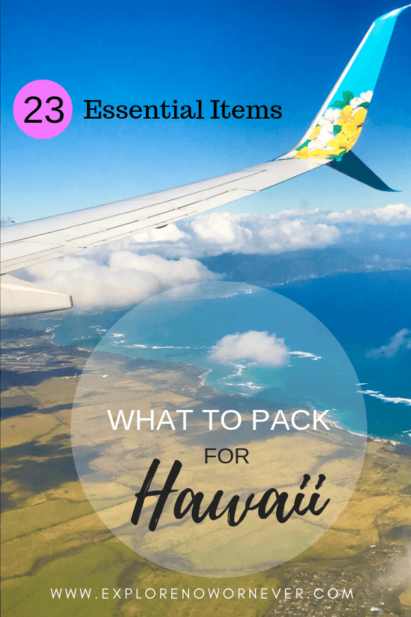 What will you pack for Hawaii? This is my ULTIMATE Hawaii packing list…with my top 23 favorite items (beyond clothing!) that make for the PERFECT vacation. From reef safe sunscreen to the best rash guard, I've got you covered. Click here to get the scoop. #hawaiitravel #hawaiipackinglist #hawaiipackinglistmaui #whattopackhawaii #hawaiivacation