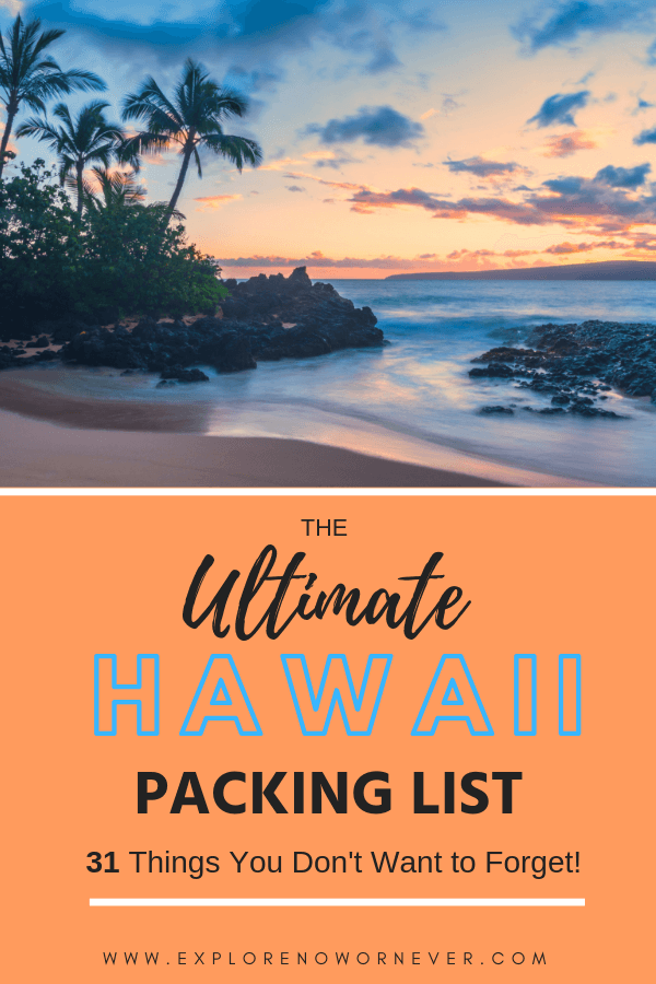 image regarding Printable Packing List for Hawaii named What in direction of Pack for Maui: 31 Imperative Products for a Ideal