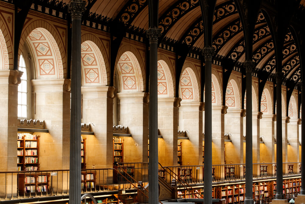 Inside of Sainte Genevieve library