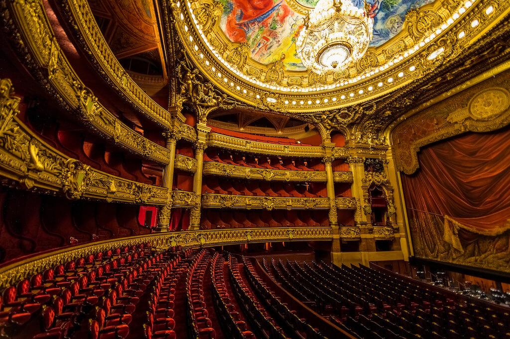 Inside of the Palais Garnier opera house