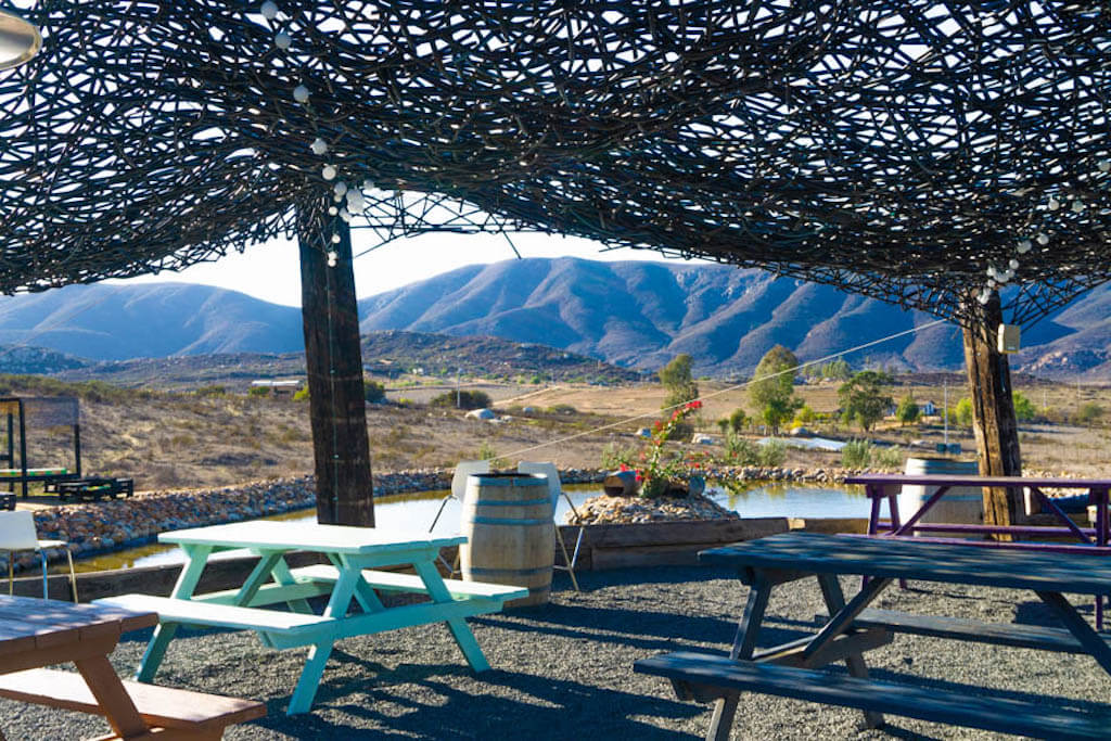landscape vista near a hotel where to stay in valle de guadalupe