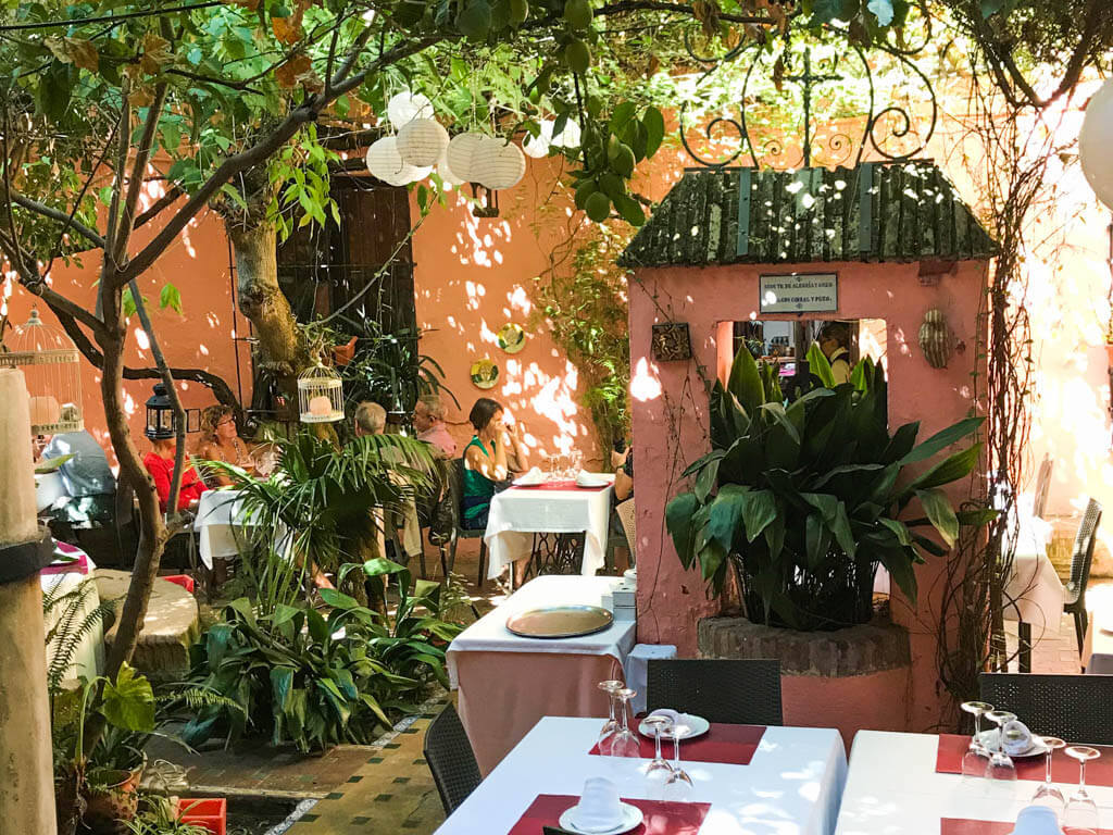 Inside a cozy restaurant in Barrio Santa Cruz