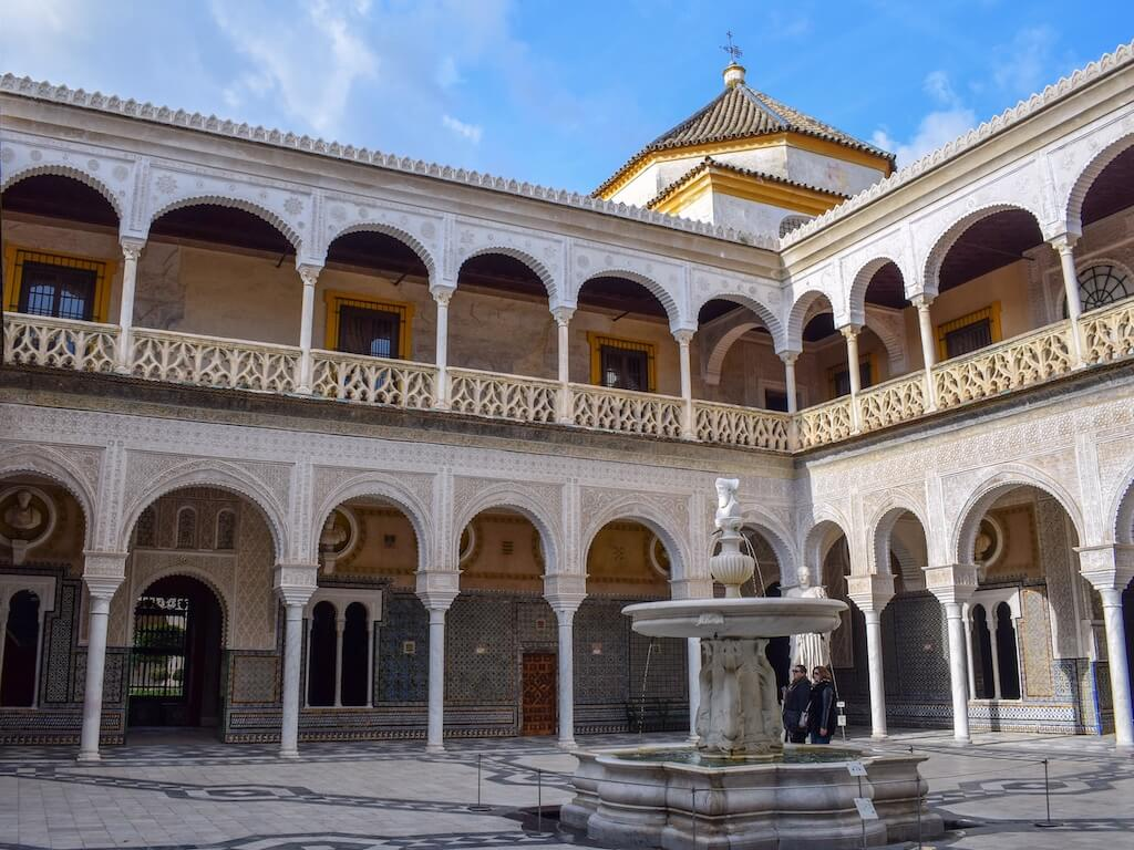 courtyard view of the palace