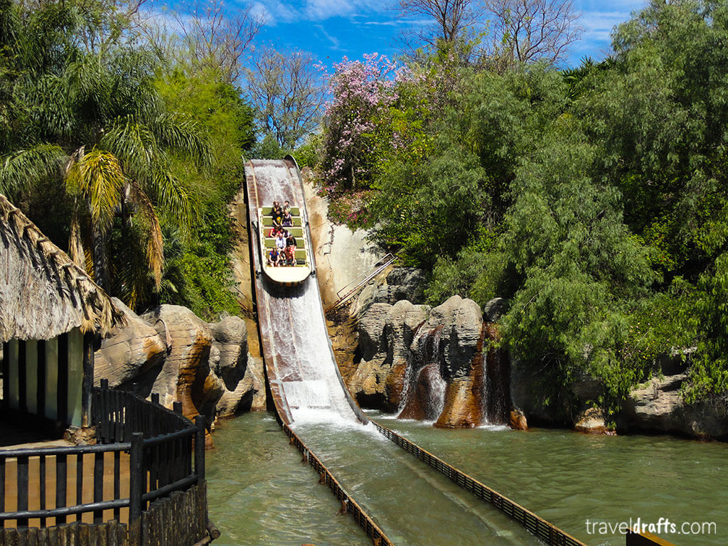 water ride at Isla Magic theme park