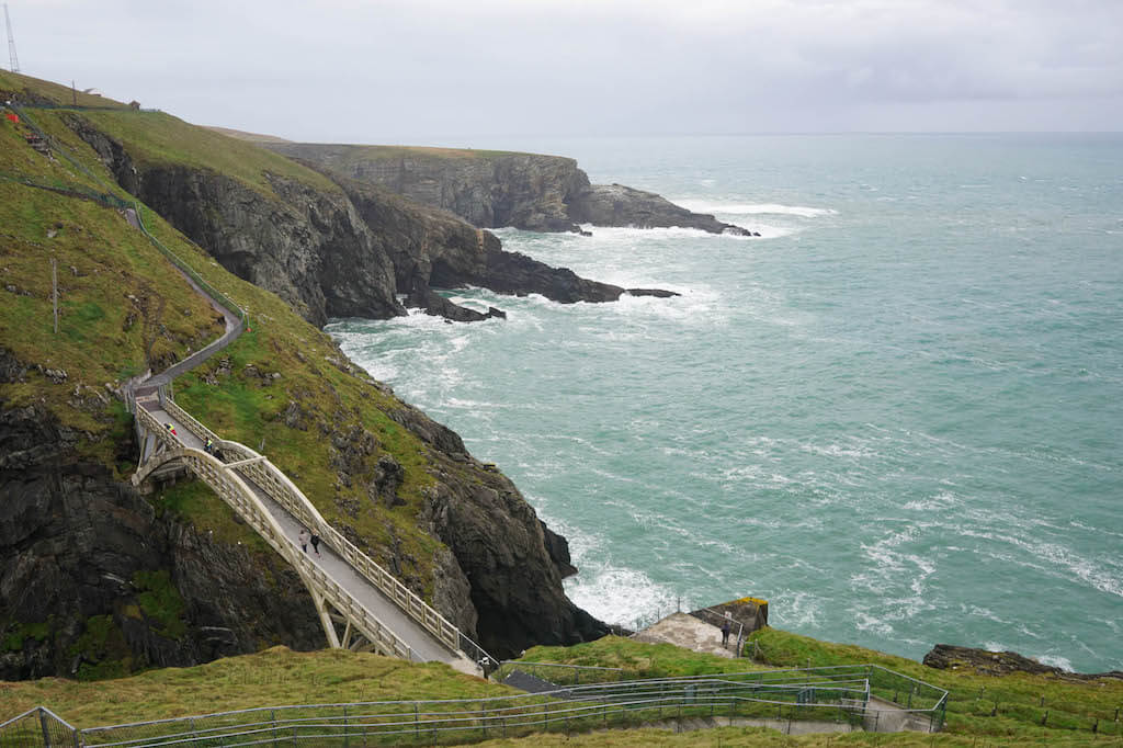 Craggy coastline with sea green sea