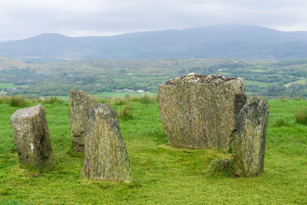 Stone circle on a hill