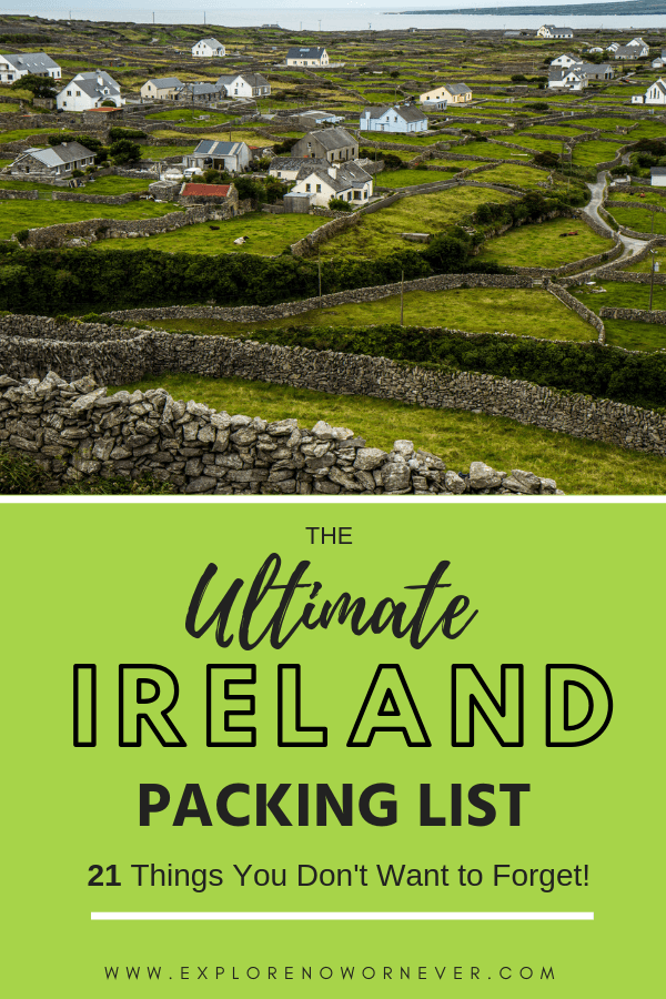 Ireland packing list | how to pack for Ireland | what to bring to Ireland | packing guide for Ireland | Ireland travel | where to go in Ireland | things you will need in Ireland #traveltips