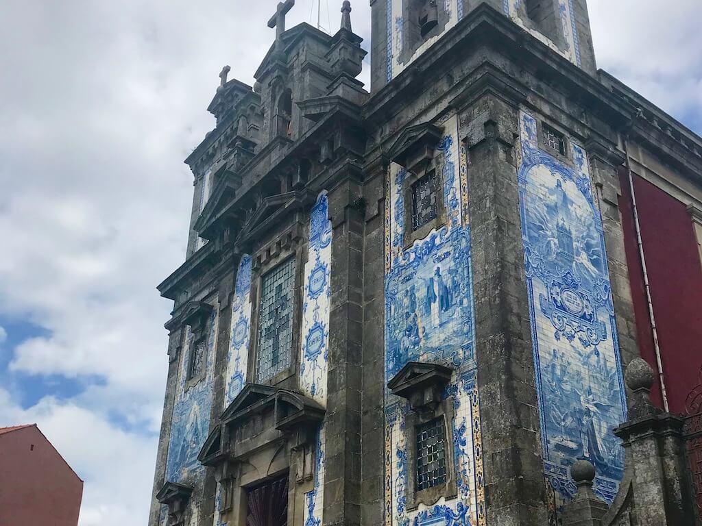 blue and white church facade of Saint Il Defenso