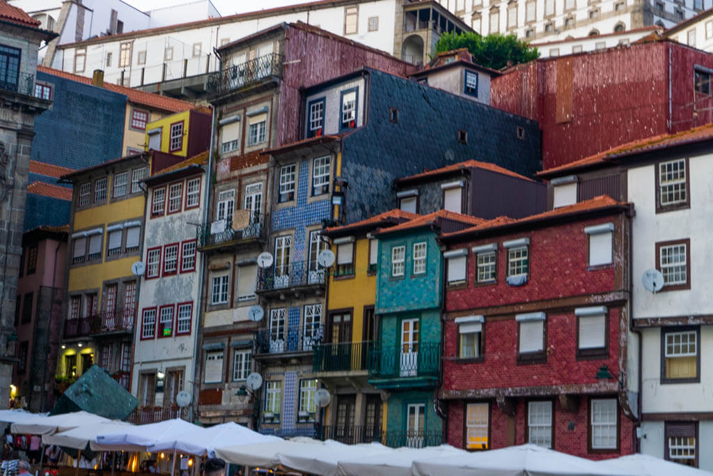 Colorful buildings in Ribeira