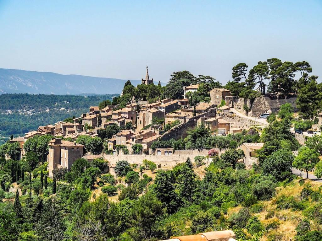 hilltop village in France