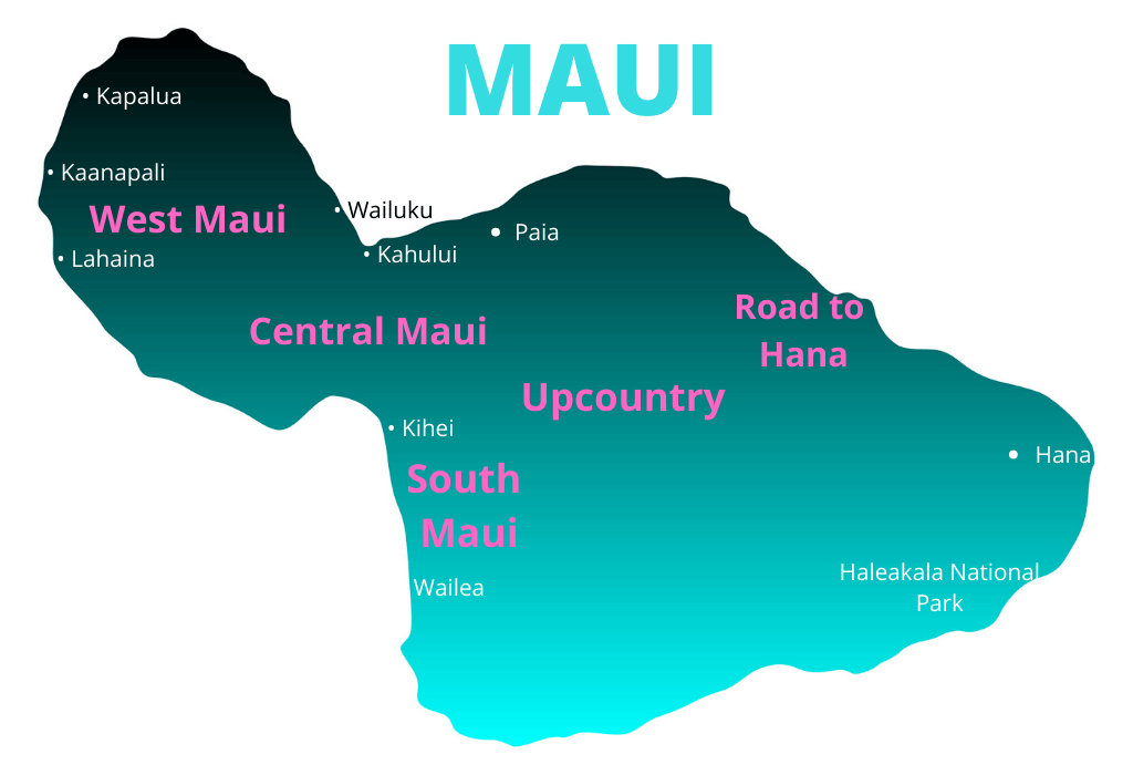 Map image of where to stay in Maui