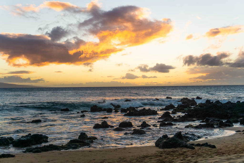 Beach sunset on Maui