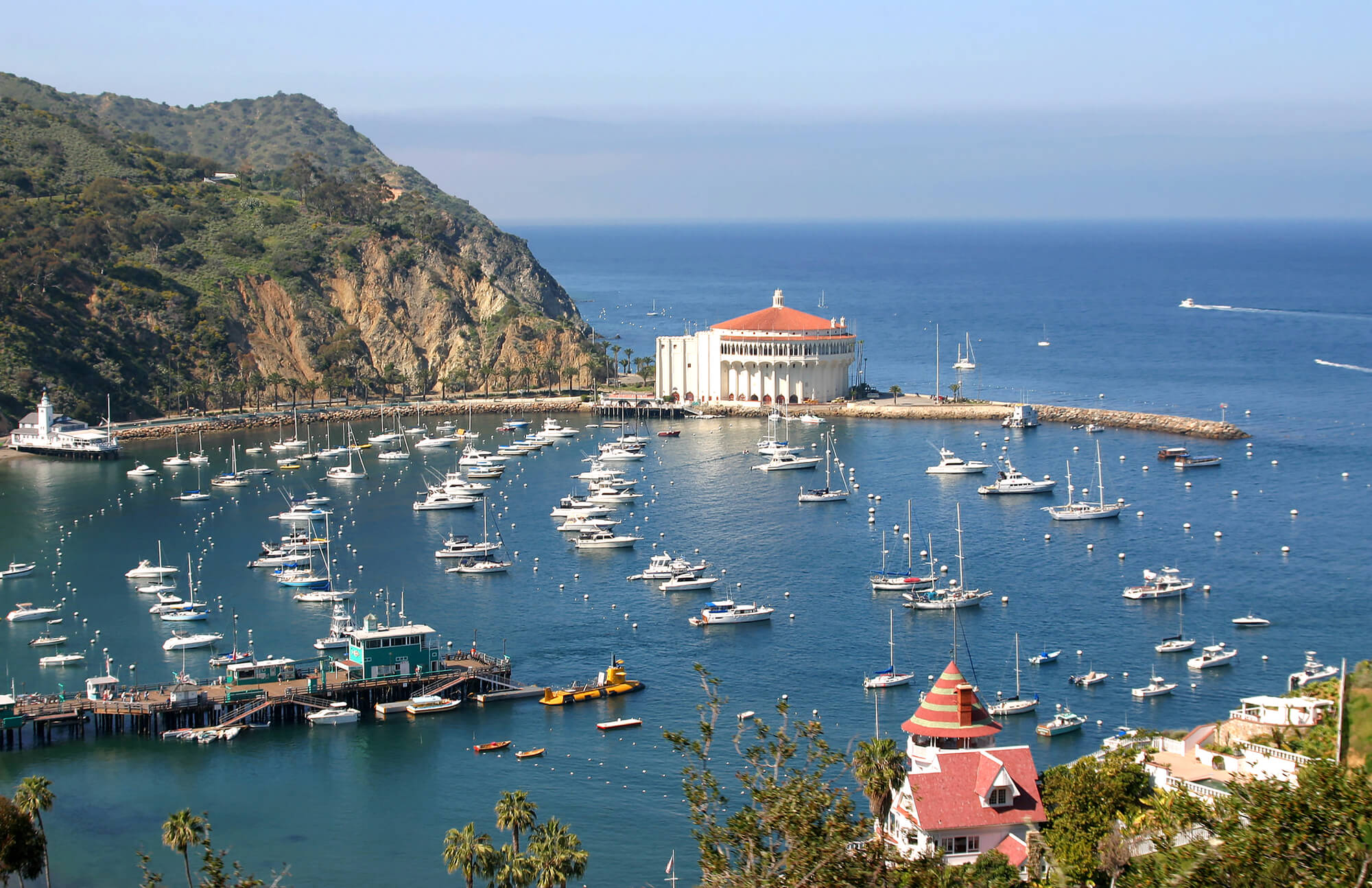 Avalon Bay from the hills on Catalina Island