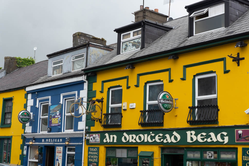colorful buildings in downtown Dingle