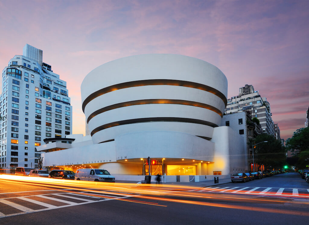 Photo of exterior of the guggenheim museum
