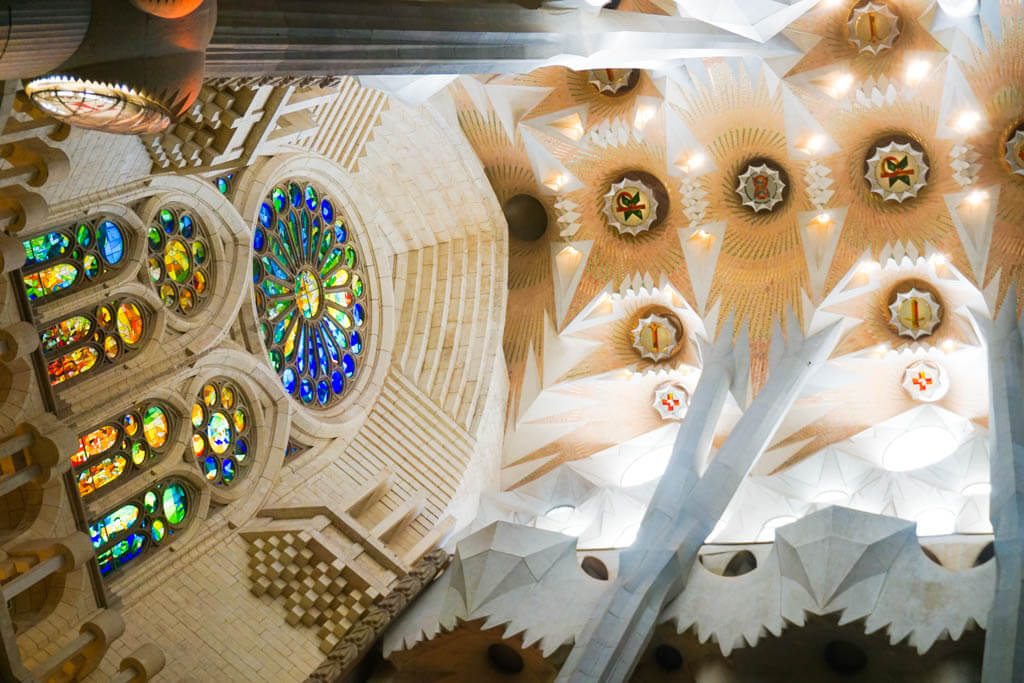 Interior Sagrada Familia Cathedral