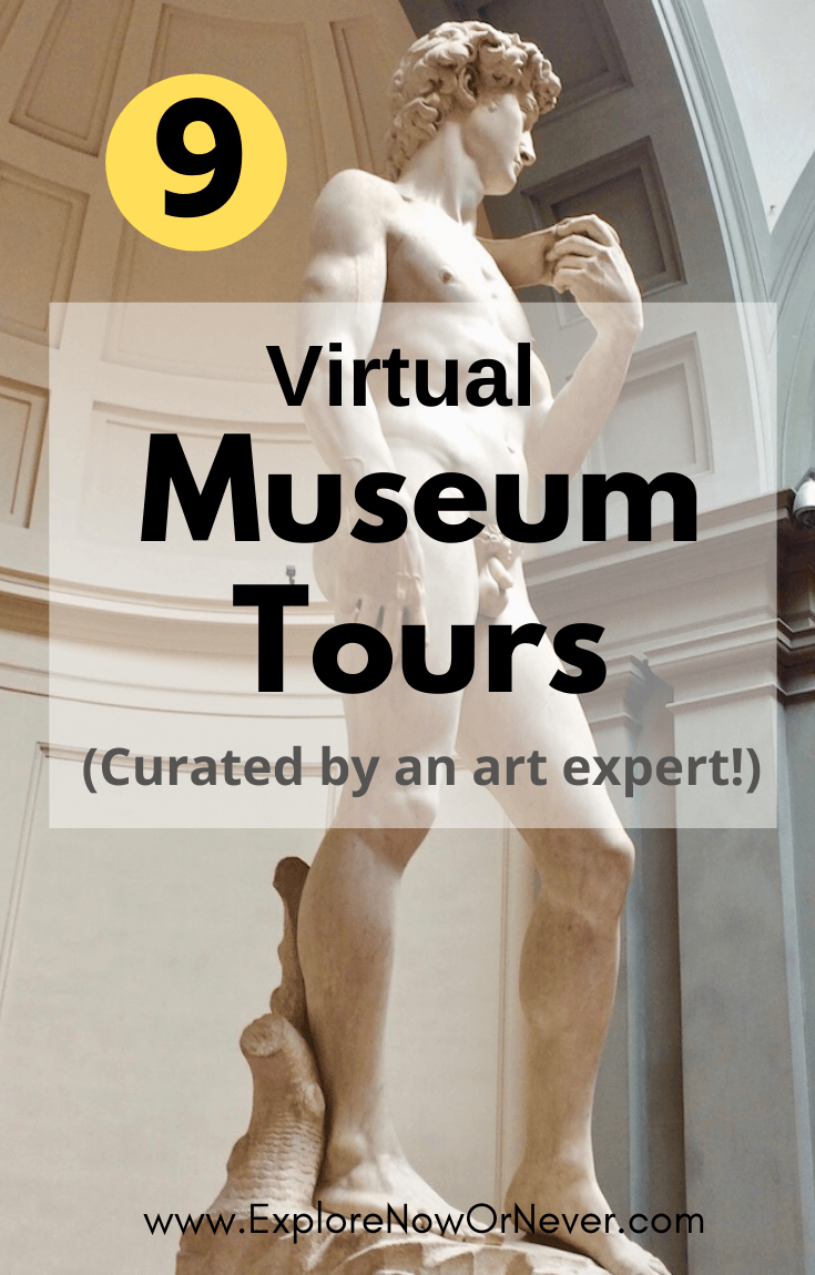 Need your travel fix? This is a list of the best virtual art museum tours—famous museums and lesser known treasures—curated by an art and architecture historian! Virtual art museum tours | museum tours | virtual museum tours |online art museums | Musee d'Orsay | British Museum |Guggenheim Museum | Smithsonian Museum