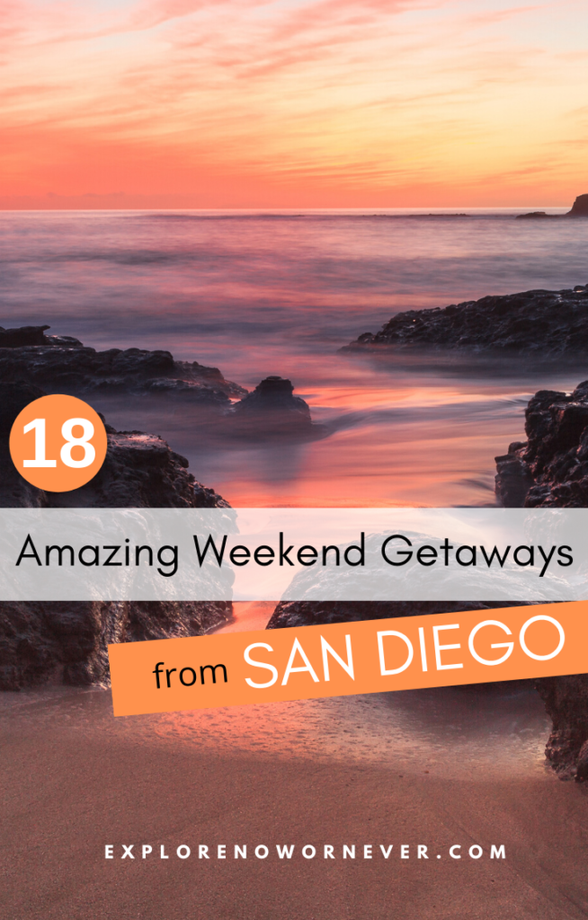These 18 are of my very favorite weekends in So Cal from San Diego! Whether you're looking for beaches, mountains, winetasting or Mexico, you'll find inspiration here. Weekend getaway ideas | southern California road trips | California weekend getaways