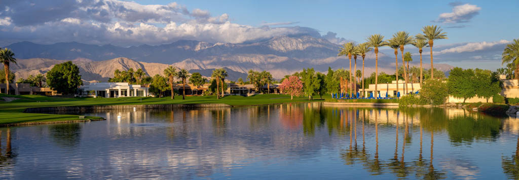 a lake fringed by mountains in Palm Springs