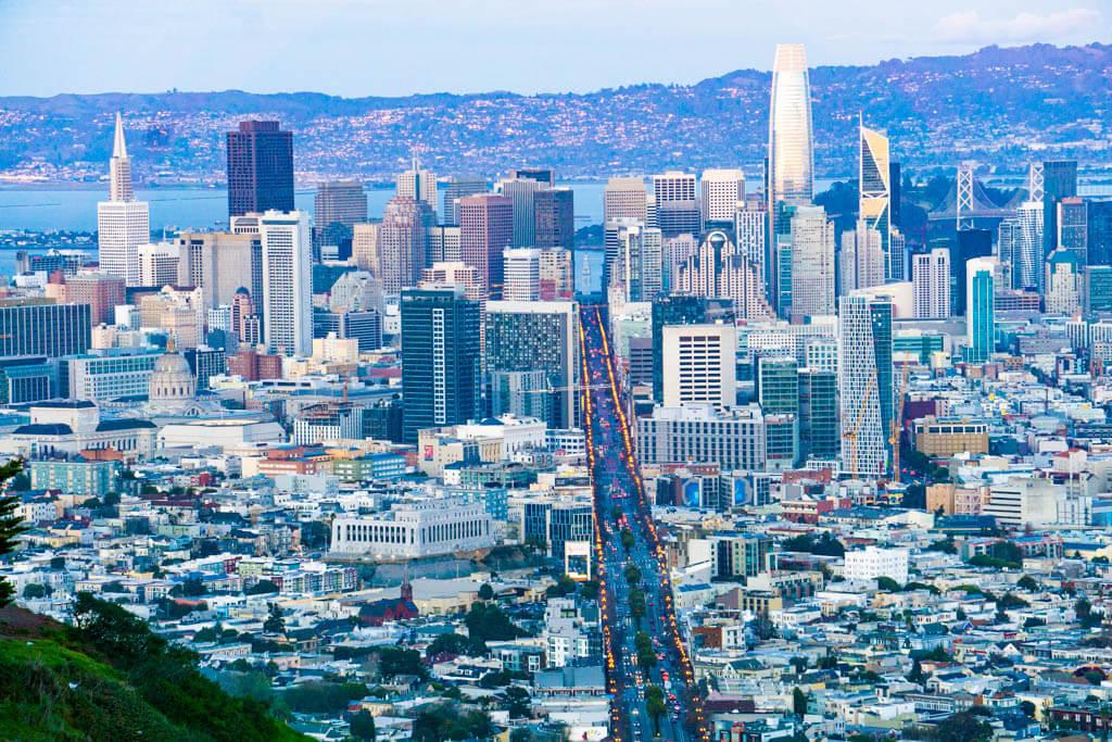 View of San Francisco skycrapers
