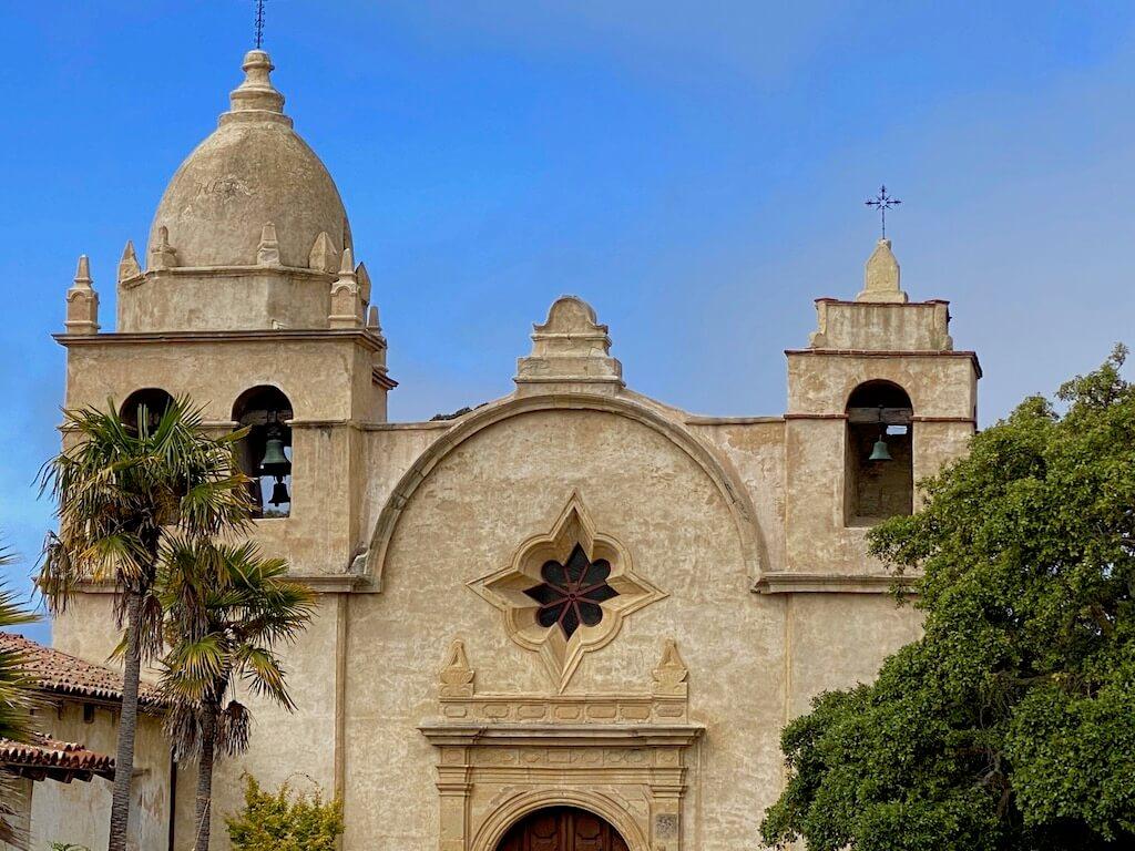 profile of Carmel's stone yellow mission