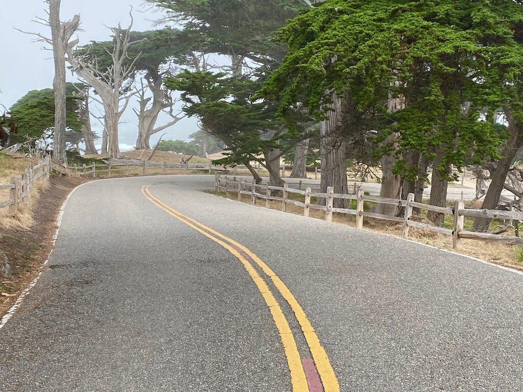 open road in Carmel California