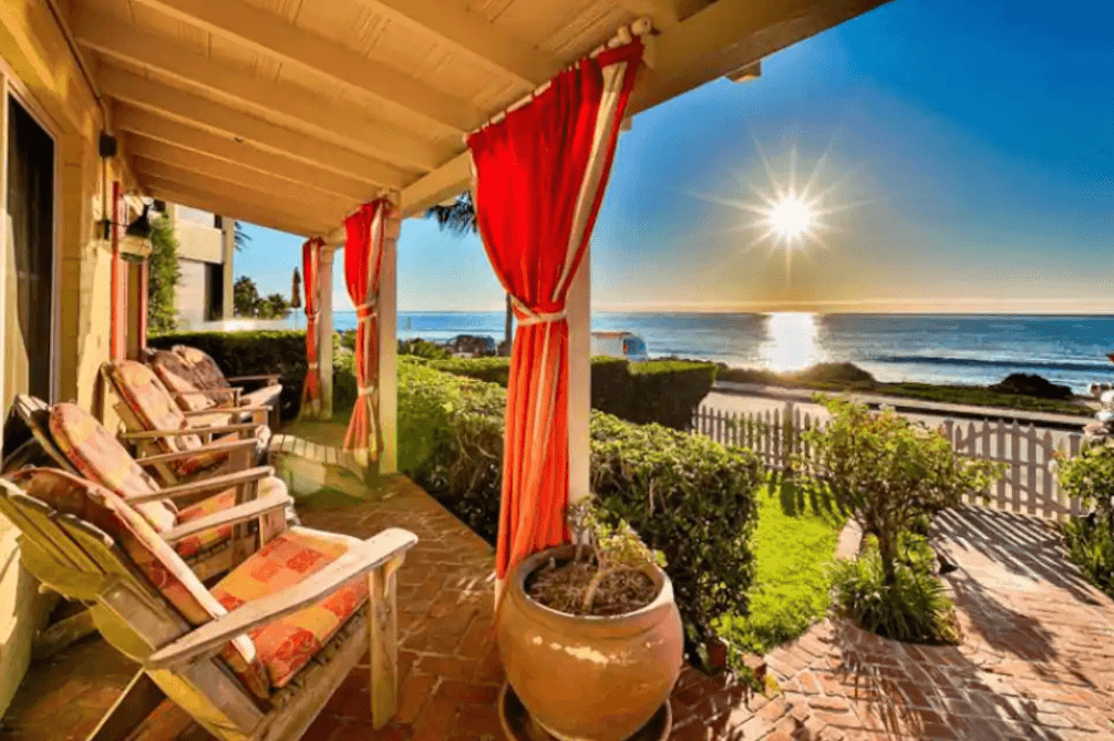 outdoor porch with ocean view