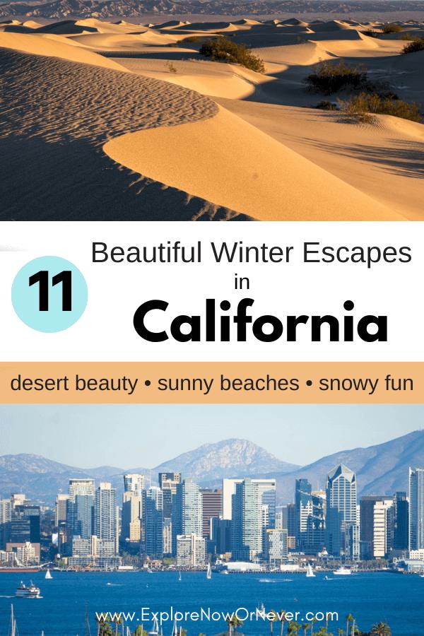 text overlay on photos of San Diego skyline and desert images