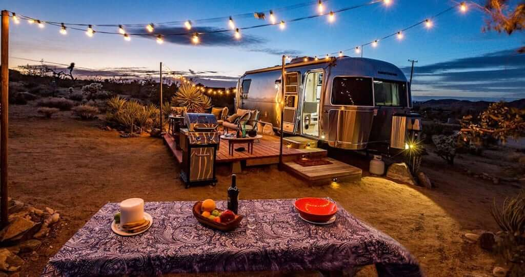 exterior of Joshua Tree airstream trailer