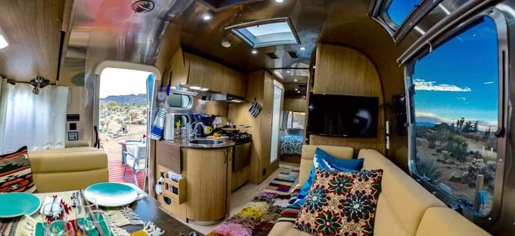 interior of airstream trailer
