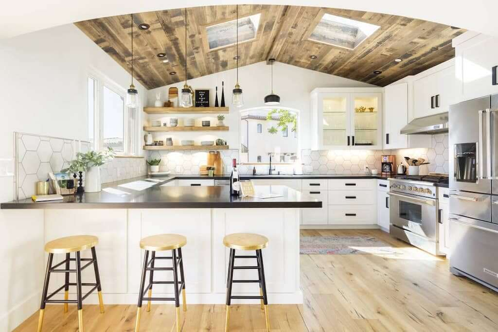 interior and kitchen view of Avila Beach home